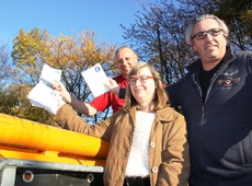 N-VA Zaventem kiepert folders 'Citoyens de Zaventem' in de vuilbak